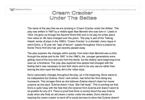 A Cracker The Settee by Cracker The Settee Gcse Marked By