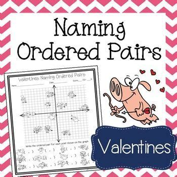 valentines day math activity naming ordered pairs