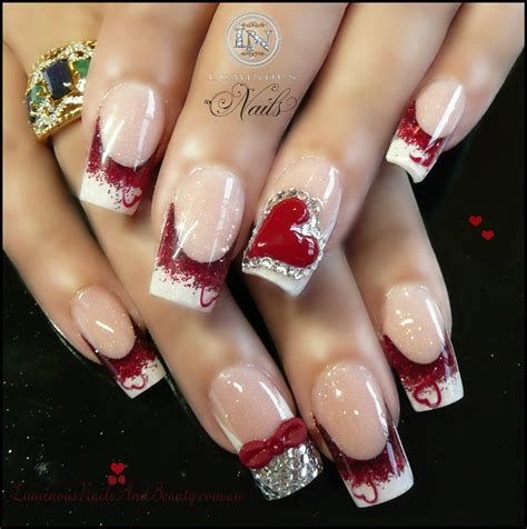 valentines nails design 30 awesome acrylic nail designs you ll want in 2016
