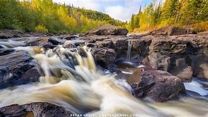 Backgrounds Shore North Minnesota Waterfall Bryanhansel