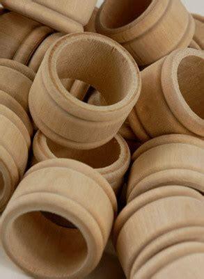 wood napkin rings pack