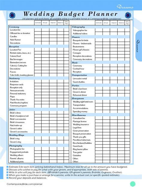 wedding budget spreadsheet db excelcom