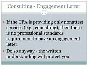Aup vs consulting engagements for Cpa review engagement letter