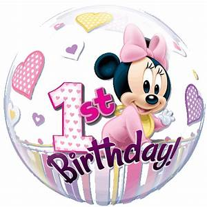 "22"" Minnie Mouse Baby 1st Birthday Bubble Balloon"