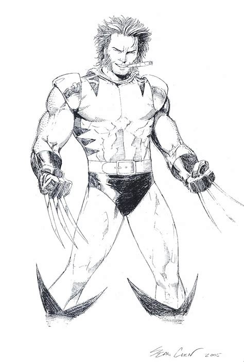 printable wolverine coloring pages  kids