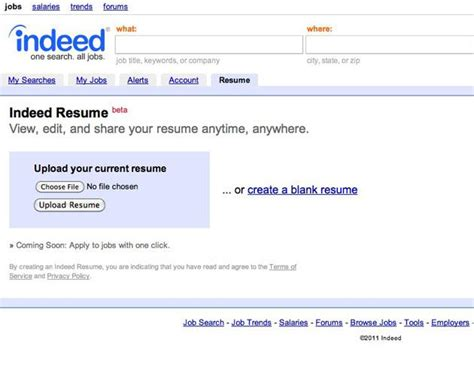 How To Upload Resume To Indeed From Iphone by Indeed Resume Beta Slide 2 Slideshow From Pcmag