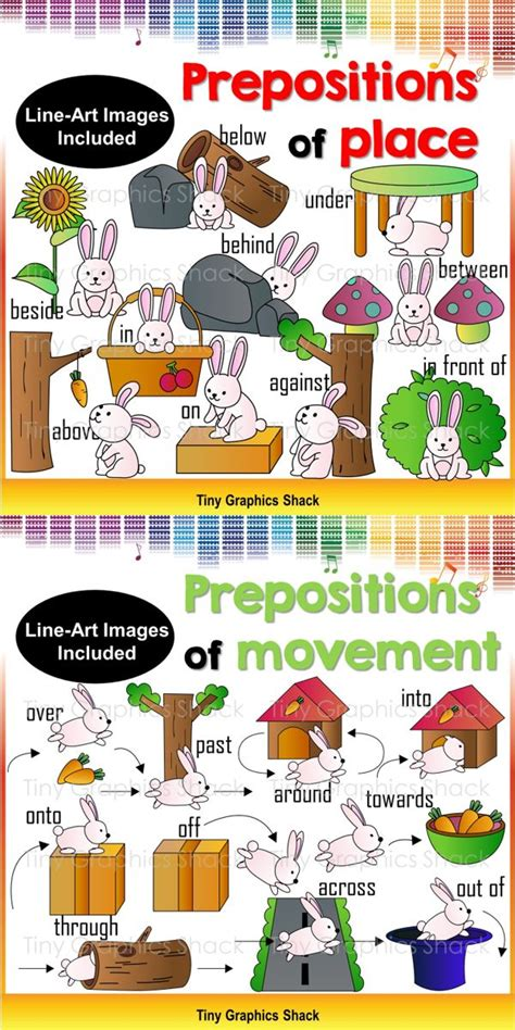 prepositions  place clip art english prepositions