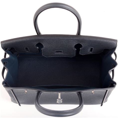 Hermes Birkin Bag 30cm Blue Ocean Togo Palladium Hardware
