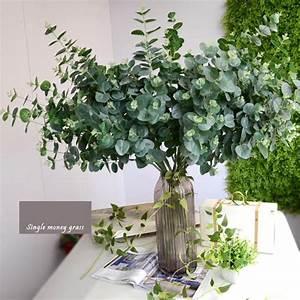 Eucalyptus Plante D Intérieur : 91 31 cm artificielle eucalyptus feuille plante verte branches fleur art quitte la maison d cor ~ Melissatoandfro.com Idées de Décoration