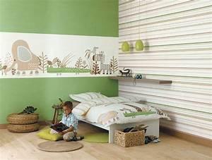 deco chambre bebe papier peint visuel 6 With deco chambre papier peint