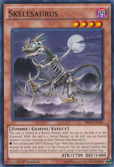 yugioh cards yu gi oh monsters sr04 duel deck english shsp en018 gemini yami bakura 1st edition common card saurus