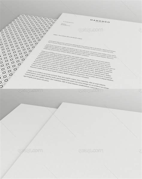 mock  letterhead psd file