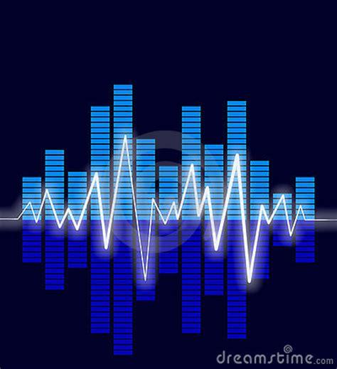 audio waves stock  image