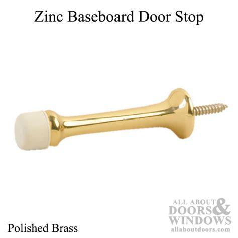 baseboard door stop baseboard door stop zinc polished brass