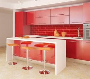 ophreycom faience cuisine moderne rouge prelevement d With faience cuisine rouge et blanc