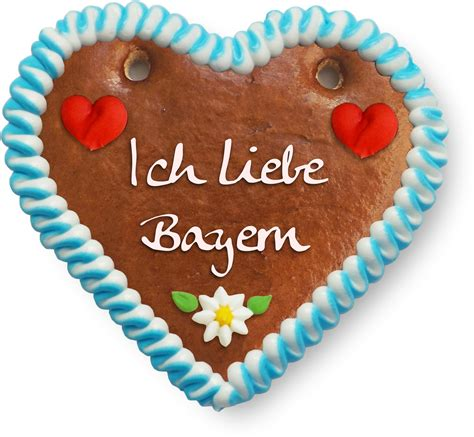 Lebkuchenherz Ich Liebe Bayern  12cm Lebkuchenmarktde