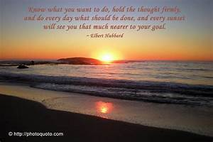 Inspirational Quote of the Day: From A Beach at Sunset ...
