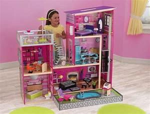 maison de barbie en bois pas cher With beautiful modele de maison en l 8 image maison de barbie
