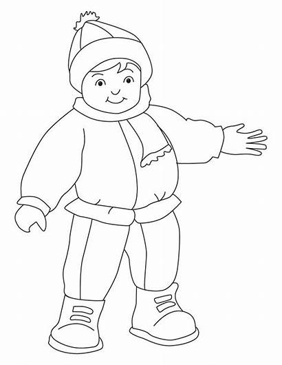 Coloring Winter Sheets Outfits Clothes Jeans Clipart