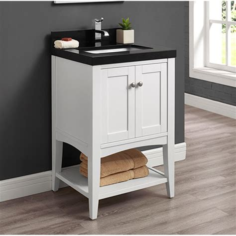 fairmont designs shaker americana  vanity open shelf