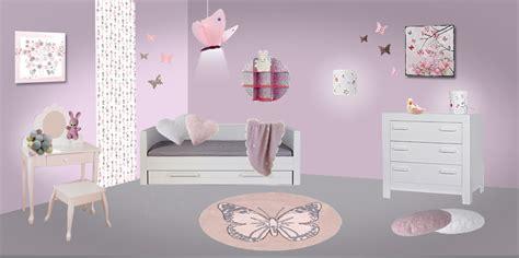theme chambre fille deco chambre fille theme papillon visuel 6