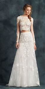 25 best ideas about 2 piece wedding dress on pinterest With two piece long sleeve wedding dress
