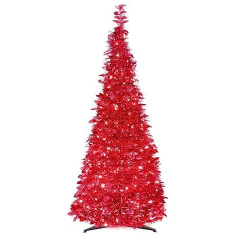 pull up christmas trees with lights 6 pop up tree pre lit 250 clear lights tinsel pull up tree new ebay