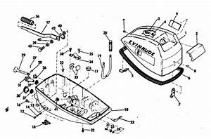 Evinrude Motor Cover Parts For 1971 4hp 4136d Outboard Motor