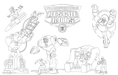 Rescue Bots Kleurplaat by Transformers Rescue Bots Coloring Pages With Logo Free