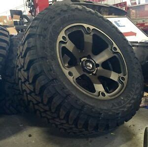 fuel beast  black wheels  toyo mt tires