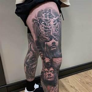 Top 85 Best Leg Sleeve Tattoo Ideas