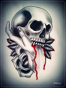 Drawn vampire tribal - Pencil and in color drawn vampire ...