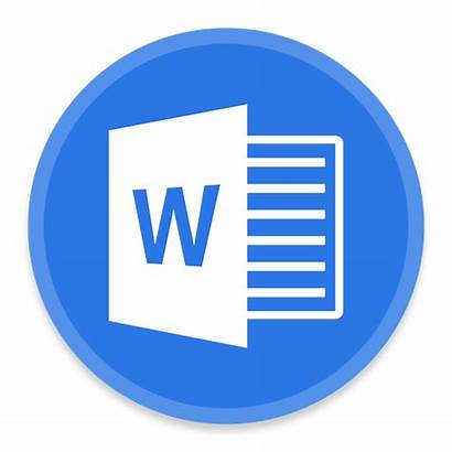 Word Icon Ms Office Button Icons Blackvariant