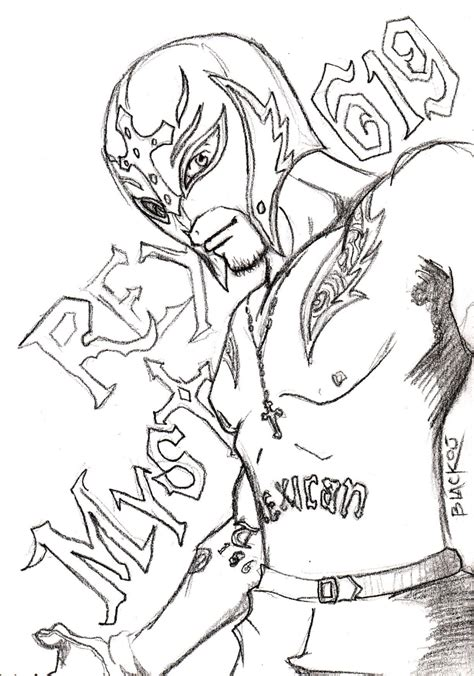 printable wwe coloring pages rey mysterio
