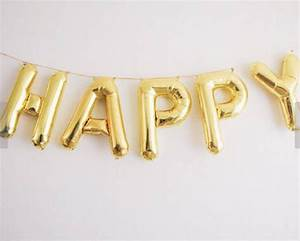 gold letter balloons by letteroom notonthehighstreetcom With little balloon letters