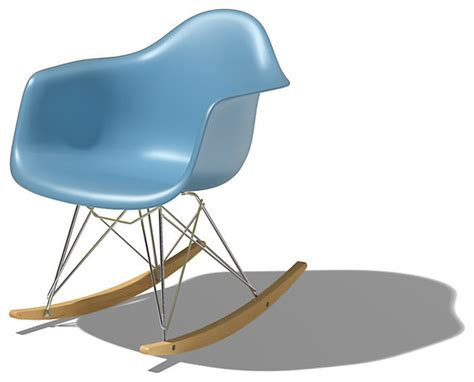 eames molded plastic rocking chair modern rocking