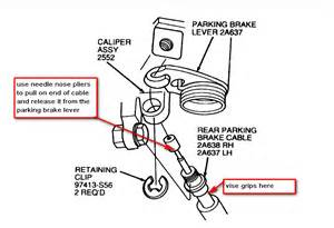 95 Taurus Rear Disk  How To Get The Lower Caliper Bolt