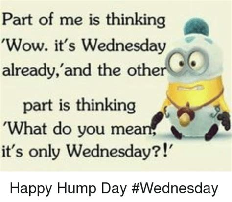 Happy Hump Day Memes - part of me is thinking wow it s wednesday already and the other part is thinking what do you