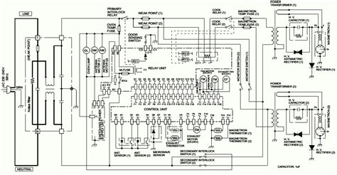 Ge Microwave Oven Wiring Diagram by Microwave Oven Circuit Diagram Sharp Model R 1900j