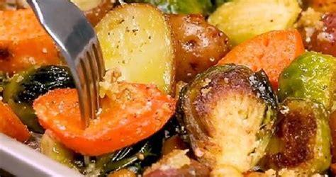 des legumes rotis au  avec du parmesan le plat