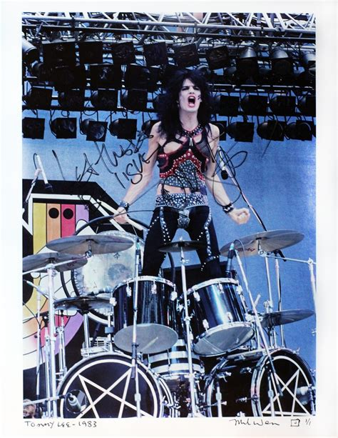 charitybuzz tommy lee  limited edition photo signed