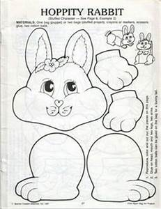 paper bag bunny pat catan39s crafts for kids pinterest With paper bag bunny template