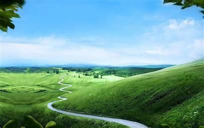 Path Way Sky Hills Road Nature Earth