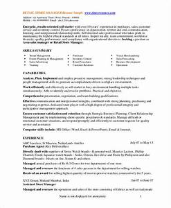 sample resume for assistant manager in retail - store manager resume 9 free pdf word documents