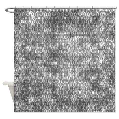 grey geometric pattern curtains vintage grey geometric pattern shower curtain by