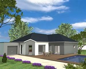 Maison Moderne Toit Plat : maison plain pied garage toit plat ~ Nature-et-papiers.com Idées de Décoration