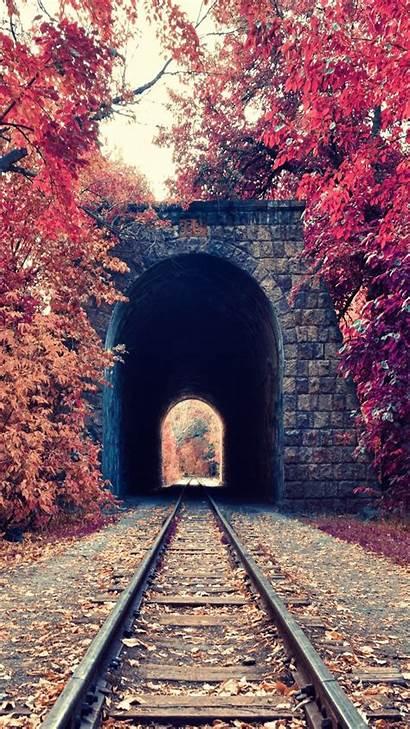 Portrait Nature Wallpapers Fall Armenia Tunnel Railway
