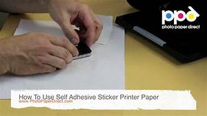 how to use self adhesive sticker printer paper youtube With how to print on sticker paper