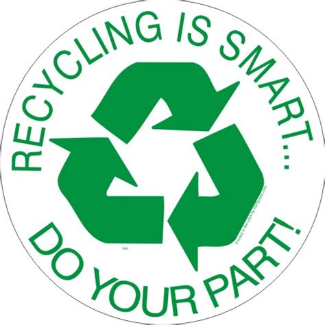 smart recycle stock recycling is smart do your part recycling decal