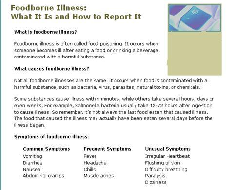 Most Foodborne Illness Symptoms